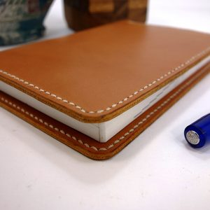 leather hobonichi cover, techo a6, smooth writing surface, tan, cream