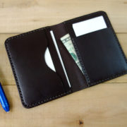 Slim front pocket wallet, dark brown