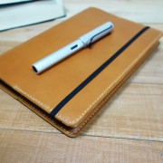 A5 Leather Notebook Cover, tan