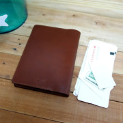 Leather Hobonichi Cousin cover, medium brown leather, medium brown