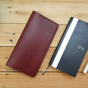 Slim Hobonichi Weeks Cover, Burgundy
