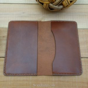 Leather Field Notes Cover, medium brown, dark brown