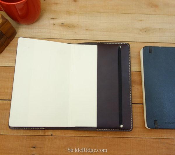 Large Moleskine Notebook Cover, Dark Brown