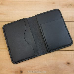 Slim front pocket wallet, black, black