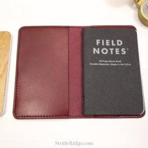 Leather Field Notes Cover Burgundy deep red