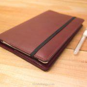 Large Moleskine Leather Cover Burgundy