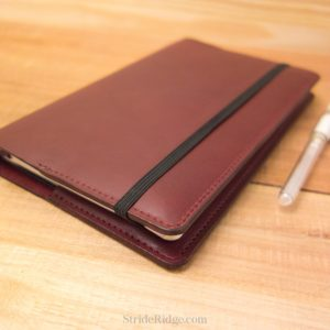 Large Moleskine Leather Cover Burgundy