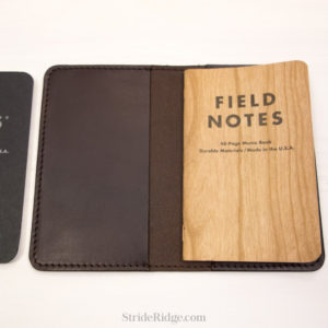 leather field notes cover dark brown two notebooks
