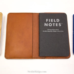 leather field notes cover chestnut medium brown