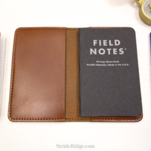 leather field notes cover medium brown
