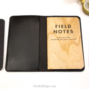 leather field notes cover black