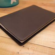 Leather Hobonichi Cousin Cover, Dark Brown Leather, Medium Brown