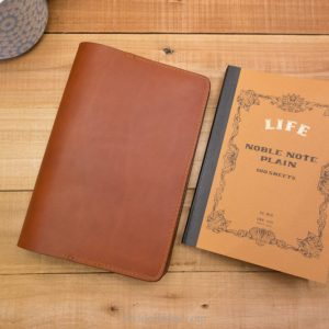 Life Noble Notebook Cover - Medium Brown