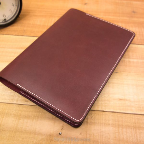 Leather A5 Taroko Notebook Cover Enigma, Mystique, Burgundy White