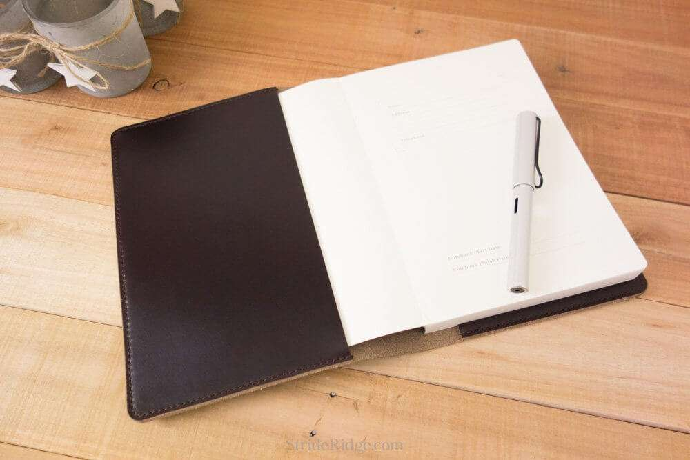 leather taroko enigma or mystique cover a5 notebook cover bullet